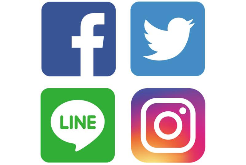 主なSNS(Facebook・Twitter・LINE・Instagram)の利用率平成28年版
