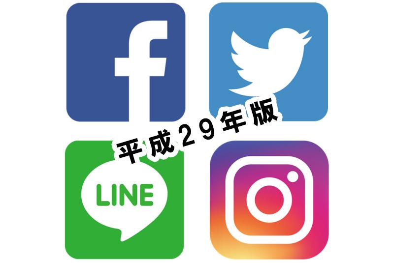 主なSNS(Facebook・Twitter・LINE・Instagram)の利用率